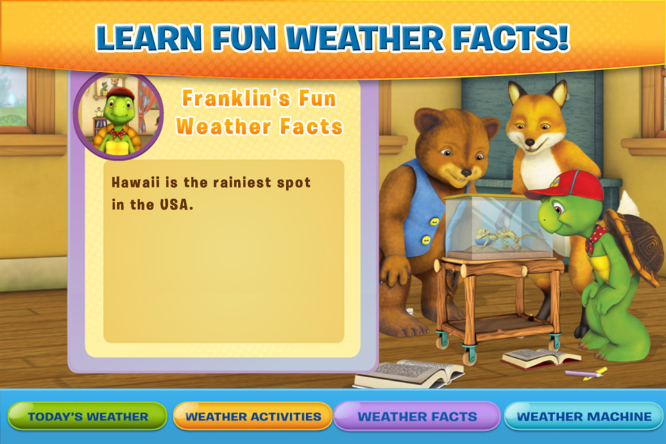 Screenshot Franklin and Friends: Franklin's Weather Fun